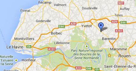 La collision est survenue à l'intersection de la D6015 et du CD263 à Mesnil-Panneville
