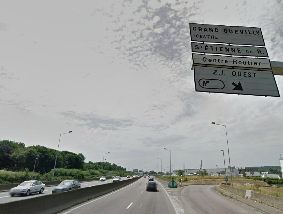 L'homme était sur le bas-côté de la Sud III. Il aurait attendu l'arrivée du poids lourd pour se jeter sous ses roues @photo d'illustration/Google Maps
