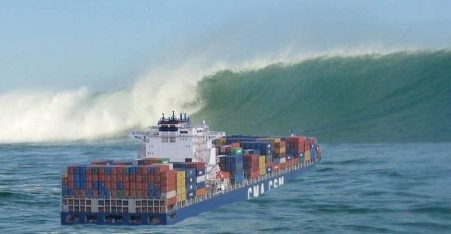 Des vagues et des vents forts pouvant souffler jusqu'à 120 km/h sont attendues en Manche et sur le littoral normand (Photo d'illustration / DR)