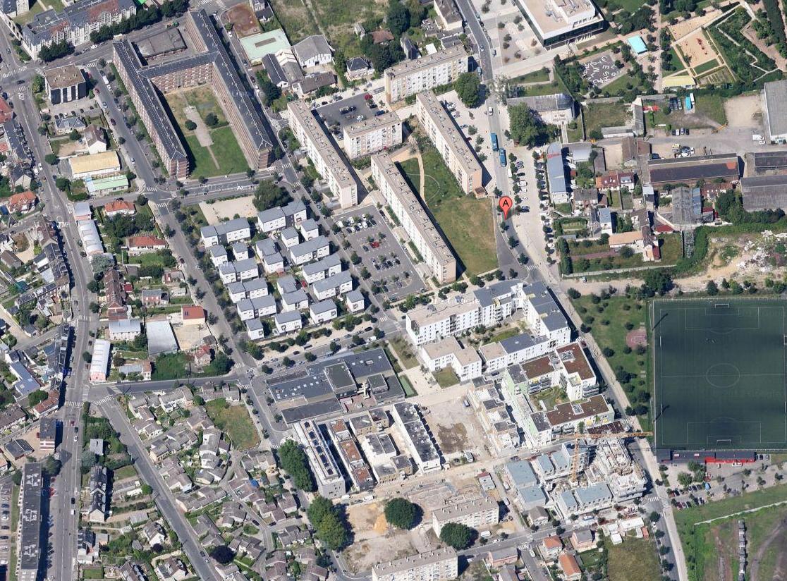 Le quartier de la Sablière où avait disparu la fillette a été ratissé par une trentaine de policiers @Google Maps
