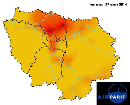Pollution atmosphérique en Ile-de-France : vitesse réglementée ce vendredi