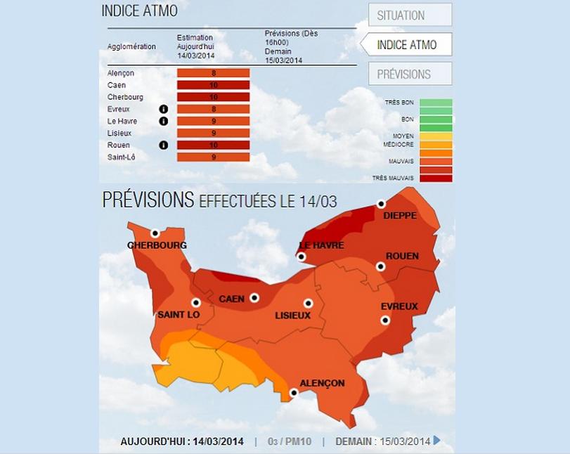 Nouvelle alerte à la pollution : le préfet réduit la vitesse de 20 km/h en Seine-Maritime