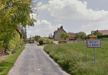 Cuigy-en-Bray, un village de l'Oise situé à une soixantaine de kilomètres de Rouen @Google Maps