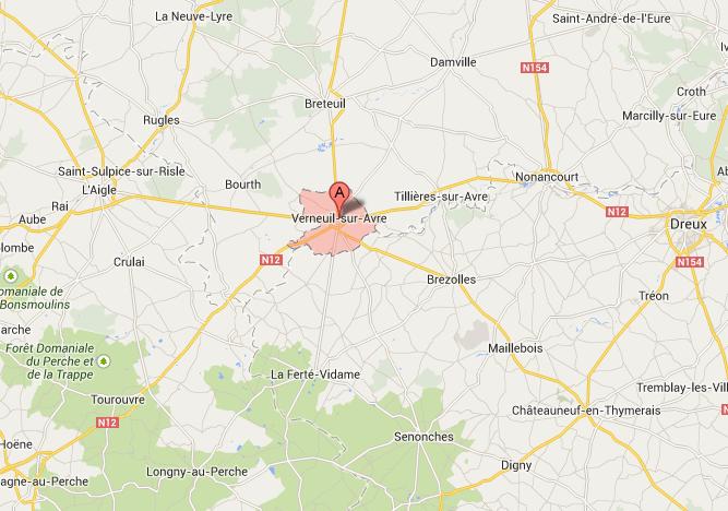 Un blessé grave dans un accident de la route : la RN12 coupée dans les deux sens à Verneuil-sur-Avre