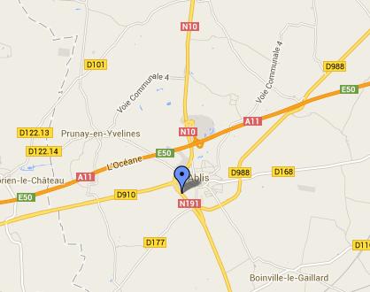 Accident de poids lourd : la N191 coupée à la circulation à Ablis (Yvelines)