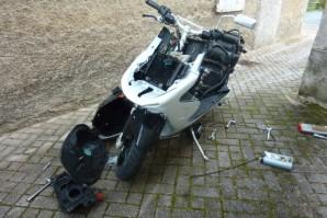 Les scooters volés étaient désossés et les pièces récupérées  (Photo d'illustration)