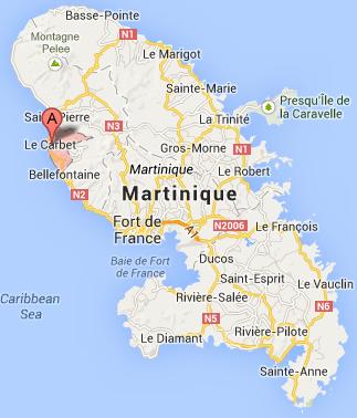 La famille Gouteux avait prévu de passer une semaine de vacances au Carbet, sur la côte ouest de l'île