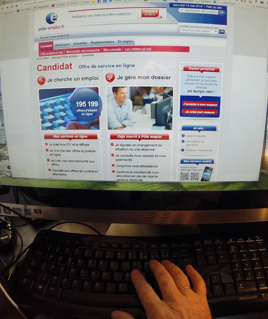 Après avoir piraté l'ordinateur de l'allocataire, l'escroc modifiait les coordonnées bancaires via le site de Pôle emploi (Photo d'illustration)