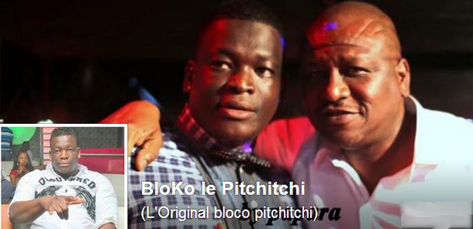 Bloco le Pitchitchi pose sur la page de couverture de son compte Facebook en compagnie du ministre de l'Intérieur et de la sécurité de Côte d'Ivoire