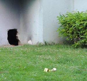 Les trafiquants avaient percé un mur afin de pouvoir échapper à la police en cas d'intervention (Photo DGPN)