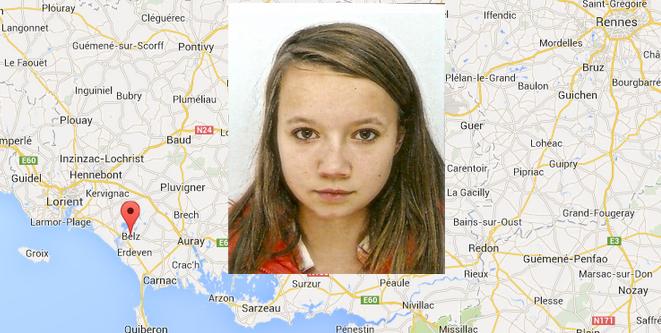 L'adolescente a quitté le domicile familial à Belz, dans le Morihan, depuis le 14 mai, au matin (@infoNormandie)