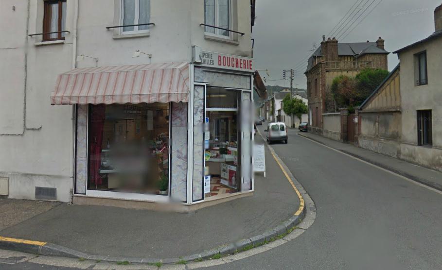 La boucherie située à l'angle des rues Raspail et Jules Ferry est dans un quartier peu passant (Photo d'Illustration)