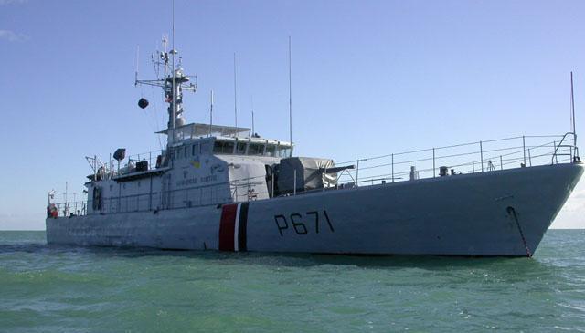 L'équipage du patrouilleur de la gendarmerie maritime Glaive a constaté ce soir que les traces d'hydrocarbures avaient disparu (Photo d'illustration)