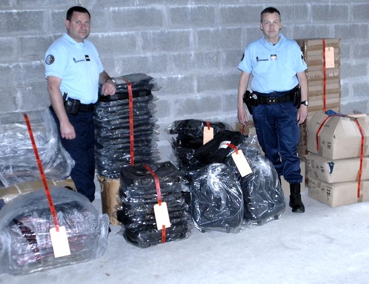 Les marchandises provenant d'un cambriolage au Havre ont été saisies par la gendarmerie. Elles vont être restituées à leur propriétaire dans les prochains jours (Photo DR)