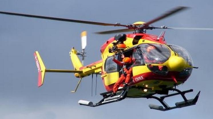Dragon 76, de la sécurité civile du Havre, a été engagé dans les recherches au même titre que d'autres moyens maritimes et aériens (Photo d'illustration/Marine nationale)