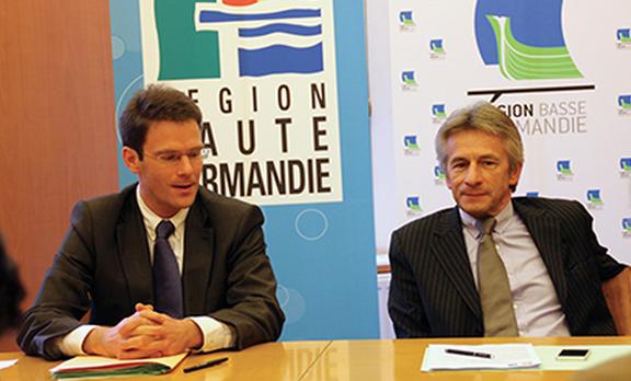 Nicolas Mayer-Rossignol (à gauche) et Laurent Beauvais (Photo A. Letouzé)