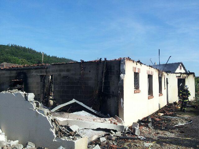 La maison d'un peu plus de 100 m2 a été entièrement ravagée par les flammes (Photo DR)