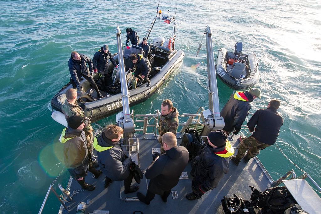 Les plongeurs-démineurs ont effectué 16 plongées consécutives   (Photo Bruno Planchais/Marine nationale)