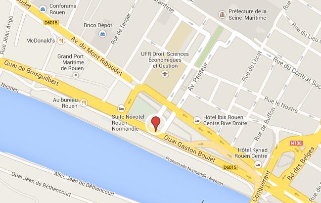 Rouen : une femme grièvement blessée par une voiture en traversant le quai Gaston Boulet