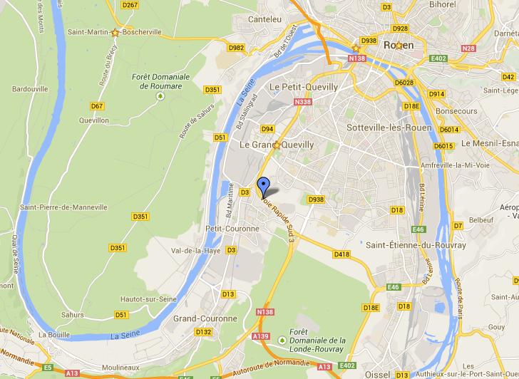 Le drame s'est produit un peu après la bretelle de sortie de Petit-Couronne en direction de l'A13 (Paris)