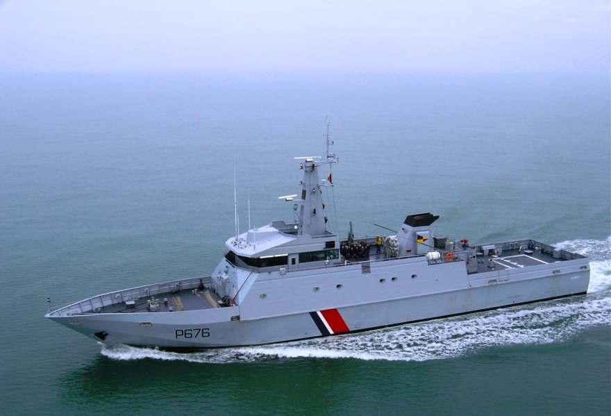 Le patrouilleur Flamant sera en escale à Dieppe mardi 8 juillet et le public pourra le visiter (Photo Marine nationale)