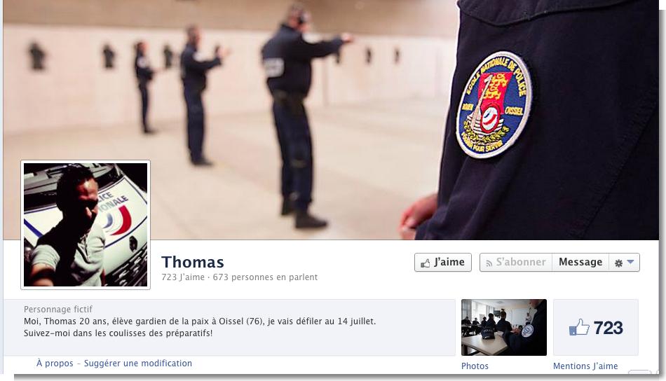 Thomas raconte sur sa page Facebook sa préparation en vue du défilé du 14 juillet auquel il participera en tant qu'élève de l'école de police de Oissel, près de Rouen