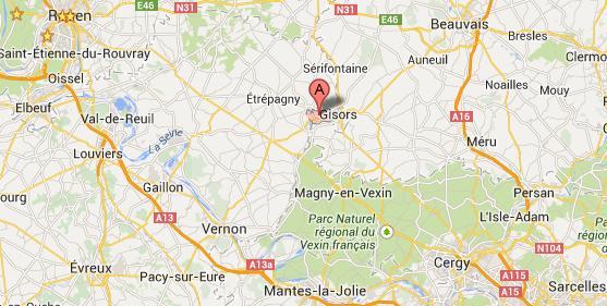 Violent feu d'habitation à Neaufles-Saint-Martin, près de Gisors, dans l'Eure