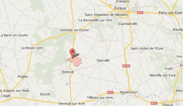Eure : deux blessés graves dans un accident entre Conches et Breteuil