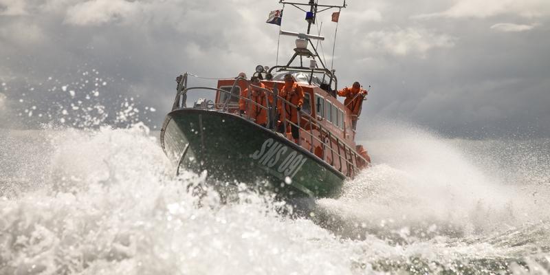 """Le canot tous temps de la SNSM """"Sainte Anne des Flots"""" de Ouistreham a été engagé dans les recherches (Photo DR)"""