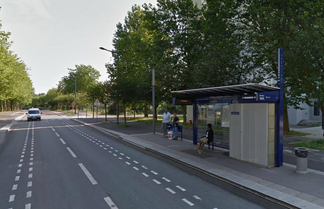 """Le drame s'est produit à proximité de la station Téor """"Couperin"""" dimanche vers 19 heures (Photo d'illustration Google Maps)"""