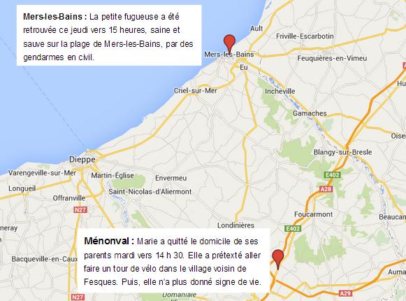 iDisparition : Marie, 13 ans, retrouvée sur la plage de Mers-les-Bains par les gendarmes