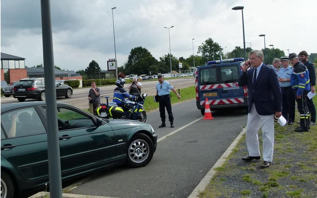 Le préfet a assisté à un contrôle de vitesse sur l'A28. Il a pu constater qu'il restait du travail à faire pour changer les comportements