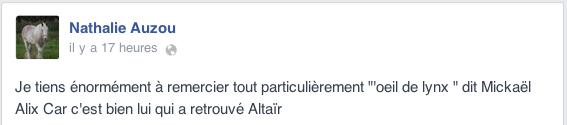 Altaïr, le cheval volé en Seine-Maritime, retrouvé dans un cirque près de Rennes