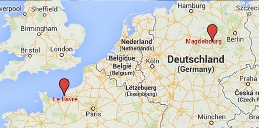 Parti de Magdebourg, en Allemagne, Peter Reffert a d'abord parcouru plus de 900 km en voiture pour arriver au Havre