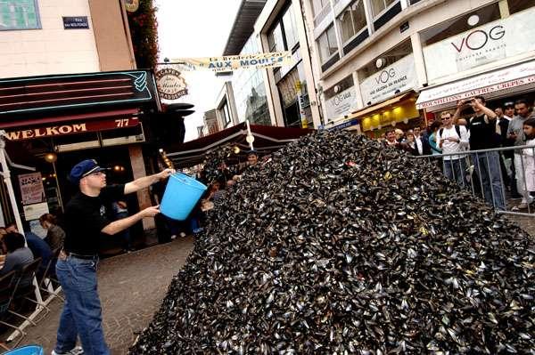 La Braderie de Lille ce sont 2 millions de visiteurs et des montagnes de moules à déguster avec ou sans frites (Photo d'illustration)