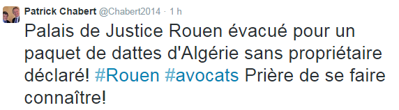 Colis suspect au palais de justice de Rouen : une boite de dattes d'Algérie !