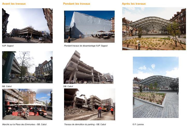 Rouen : nouveau look pour la place des Emmurées avec sa halle translucide