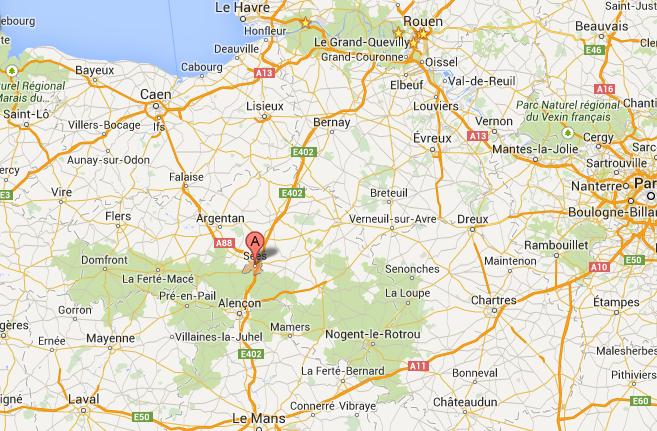 L'autoroute A28 coupée et déviée dans les deux sens à hauteur de Sées (Orne)