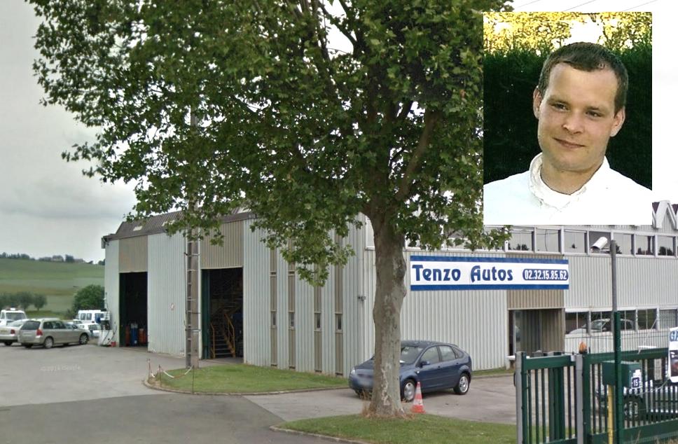 Le drame s'est déroulé dans les locaux du garage Tenzo Autos. Frédéric Piard (sur la photo Copains d'Avant, en médaillon) était à la tête de cette petite entreprise qu'il avait fondée en 2010
