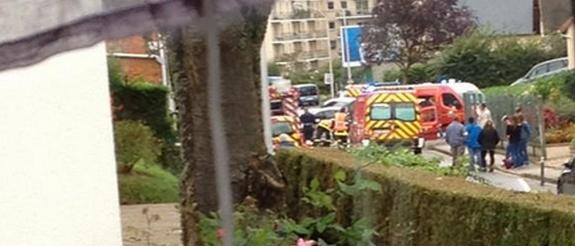 Photo de l'accident @EmelineQuesnel  via Twitter