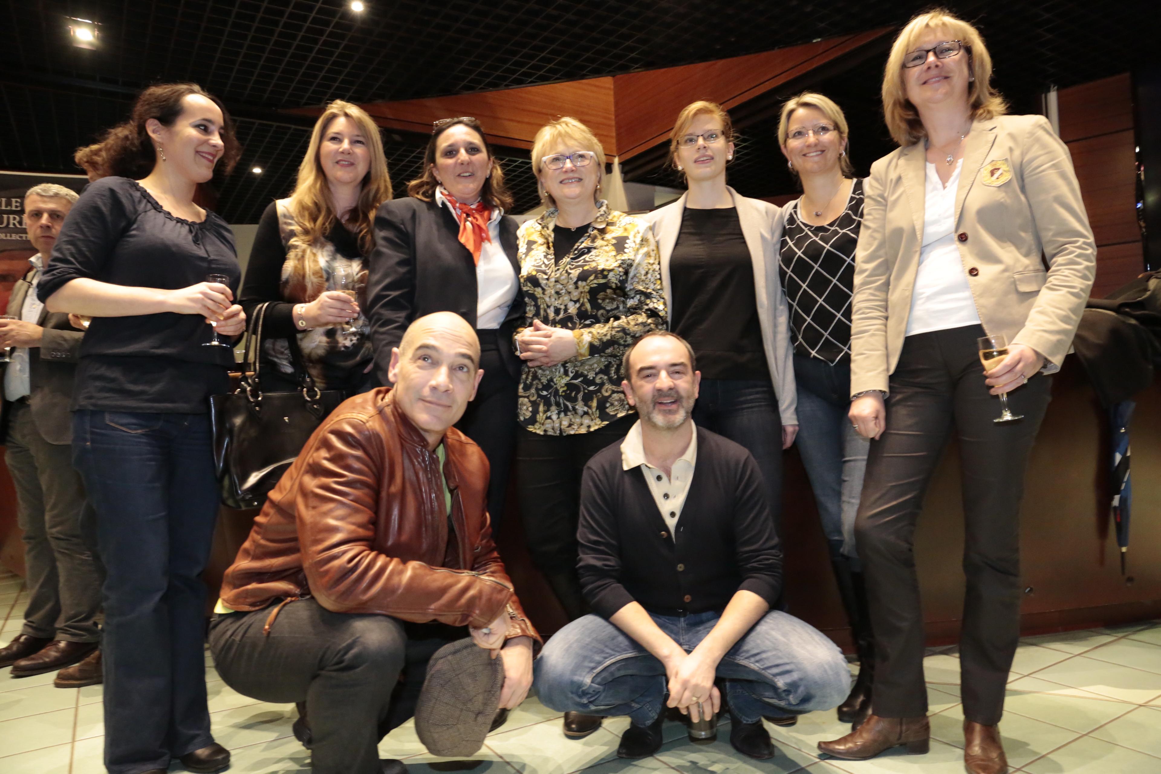 L'équipe de la série lors de la soirée de lancement de l'Appli Cinéma de l'Office de tourisme (Photo Erik Levilly)