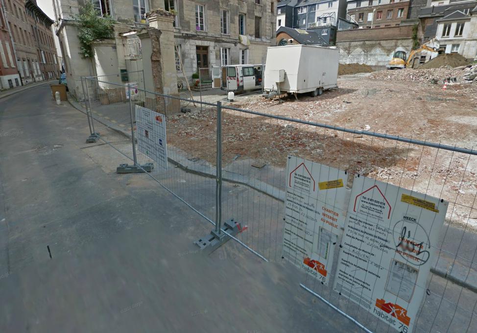 Les deux voleurs ont été arrêtés sur ce chantier de la rue du Lieu de Santé (Photo d'illustration)