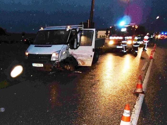 Eure : deux blessés légers dans une collision entre un camion-citerne et un camion-benne