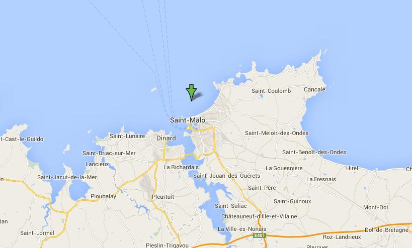 L'embarcation des kayakistes haut-normands a été retrouvée, vide et retournée, à 14 km au nord de Saint-Malo