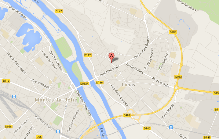 L'agression s'est produite rue Jacques Duvivier, une rue du centre ville de Limay perpendiculaire à la rue principale (rue Nationale)