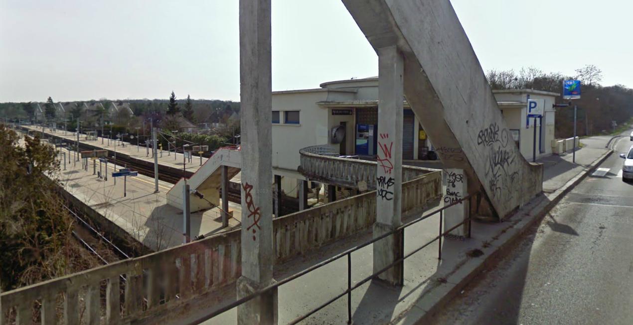 Le drame s'est produit dans l'enceinte de la gare d'Achères Grand Cormier (@Google Maps)