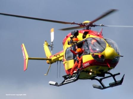 L'hélicoptère de la sécurité civile Dragon 76, basé au Havre