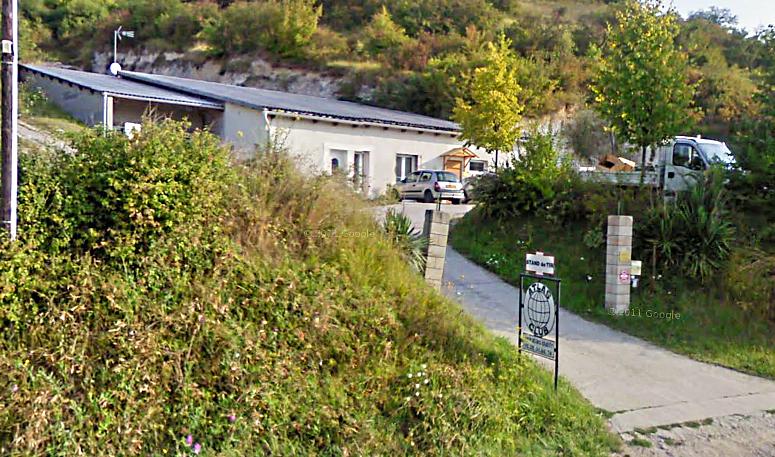 La demeure attenant au stand de tir et une partie des installations de celui-ci sont partis en fumée (Photo d'archives du stand de tir de Vernon, route de Vernon à Sainte-Geneviève-les-Gasny)