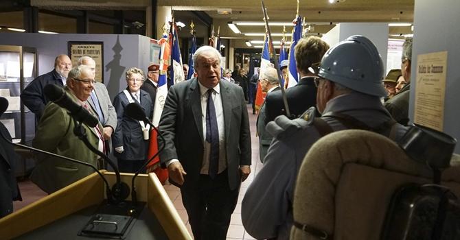 Jean Louis Destans, le président du Conseil général lors de l'inauguration de l'exposition (Photo DR)