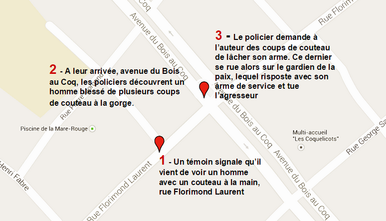 Le Havre : le policier tue l'homme qui le menaçait avec un couteau